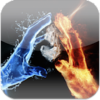3D Ice Fire Love LiveWallpaper