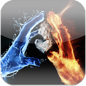 3D Ice Fire Love LiveWallpaper