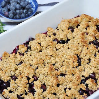 Vegan Blueberry - Rosemary Crumble