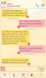 ZCute GO SMS Theme - screenshot thumbnail