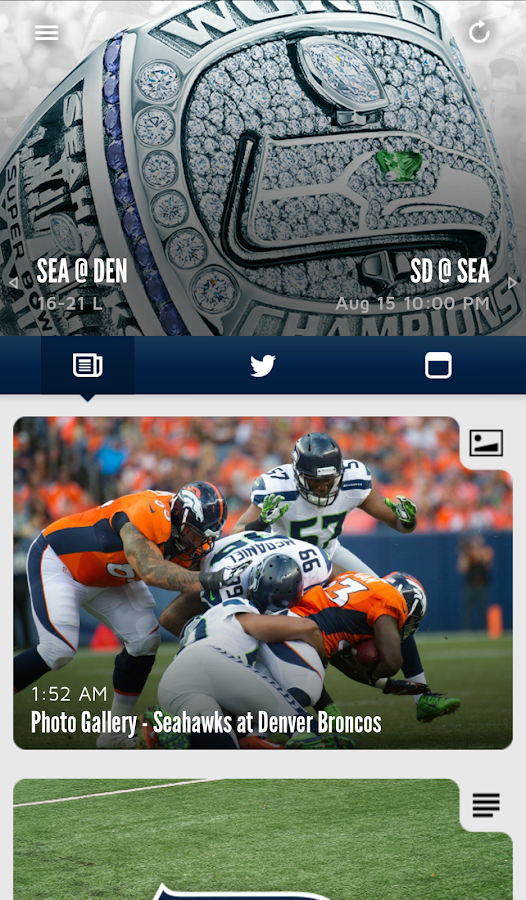Seattle Seahawks Mobile - screenshot
