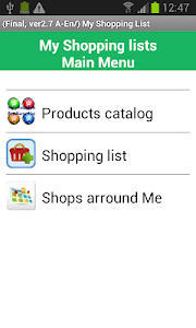my Daily Shopping Lists screenshot 0