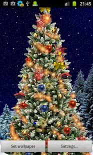 Christmas Tree Live Wallpaper - screenshot thumbnail