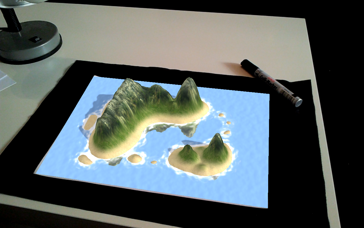 LandscapAR augmented reality: captura de pantalla