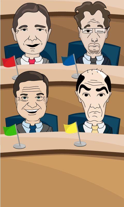 Politična igrica- screenshot