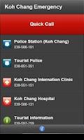Screenshot of Koh Chang Emergency