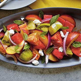 Heirloom Tomato, Watermelon, and Peach Salad