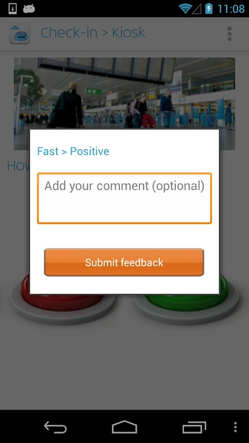 KLM Feedback - screenshot