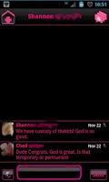 Screenshot of Pink Socialize 4 FB Messenger