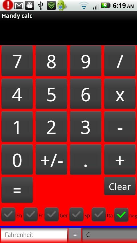 Barking Calculator- screenshot