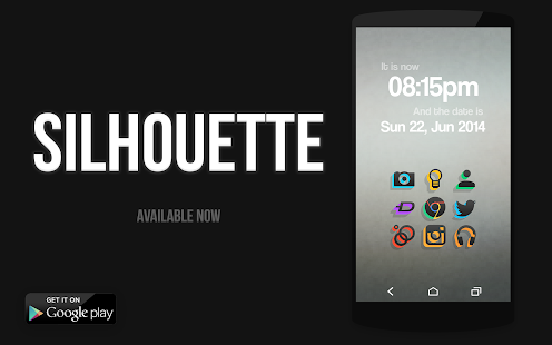 SILHOUETTE Icon Pack Screenshot