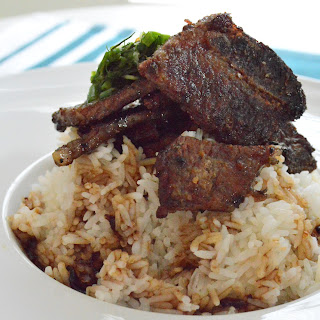 Korean BBQ Ribs, White Rice, Dill and Chives Salad Recipe