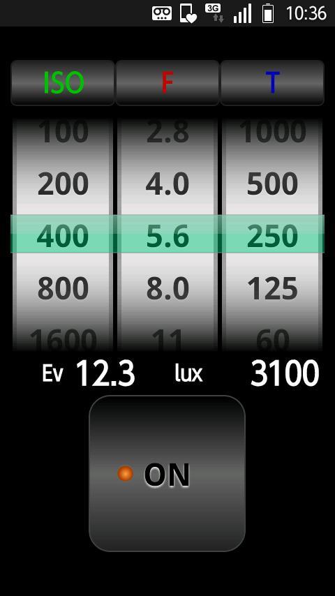 SmartLightMeter- screenshot