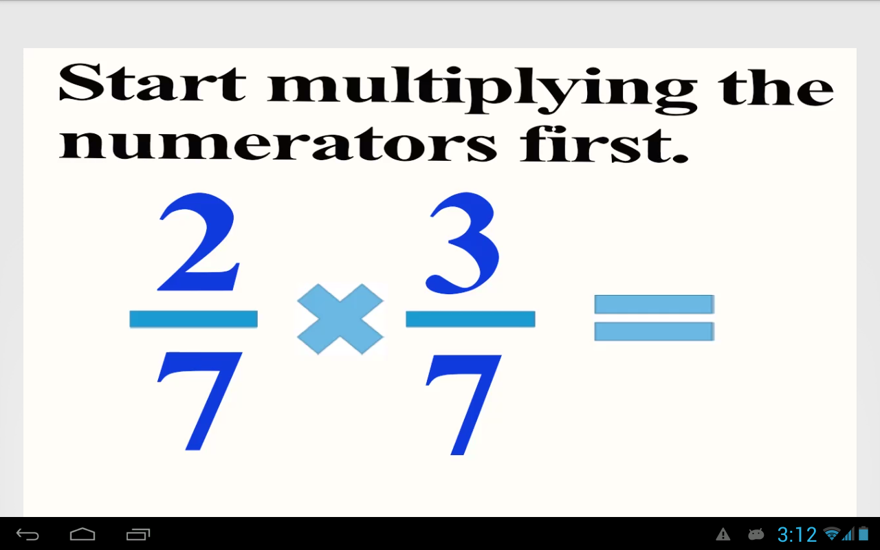 worksheet Multiply Fractions multiply fractions android apps on google play screenshot