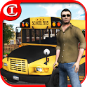Crazy School Bus Driver 3D icon