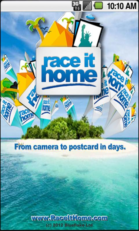 Race It Home - Send Postcards- screenshot