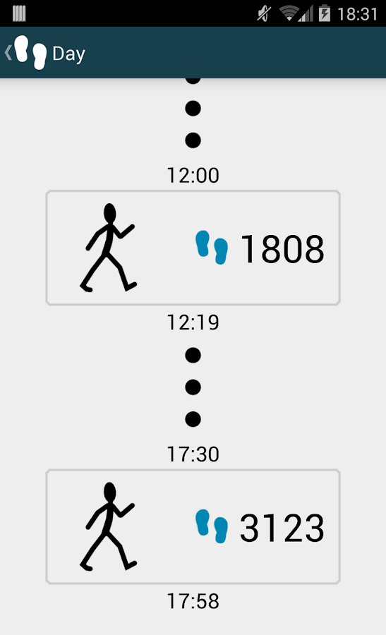 WalkLogger pedometer- screenshot