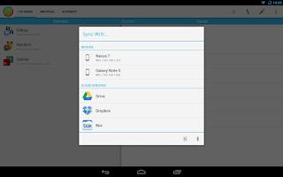 Screenshot of DataSync