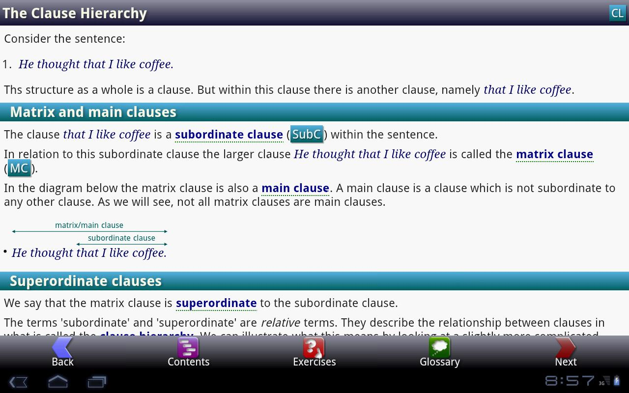 iGE: iGrammar of English - screenshot