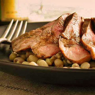 Sautéed Duck Breast with Peas
