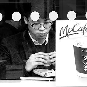 Spotted While Eating Lunch by Michael Summers - People Street & Candids ( street, olympus omd e-m5, candid, macdonalds )