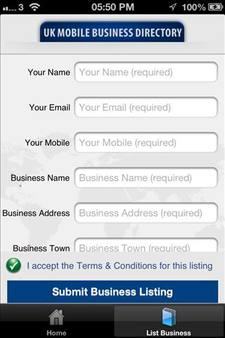 UK Mobile Business Directory- screenshot