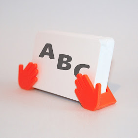 Shop Card Stand (Red)