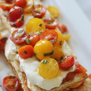 Sunblush Tomato Napoleon with Basil Goat Cheese Mousse Recipe
