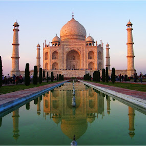 The Taj Mahal at Agra,  India by Mrinmoy Ghosh - Buildings & Architecture Statues & Monuments (  )