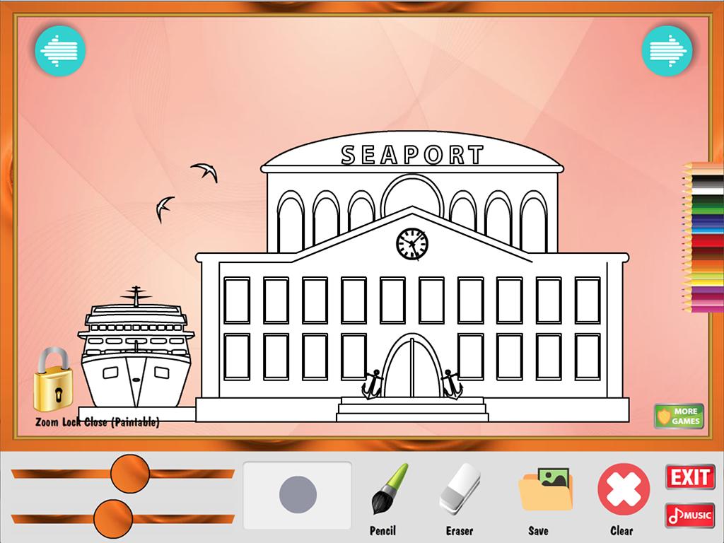 colorear juego: edificios - Aplicaciones Android en Google Play