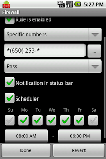 Firewall: Call and SMS filter - screenshot thumbnail