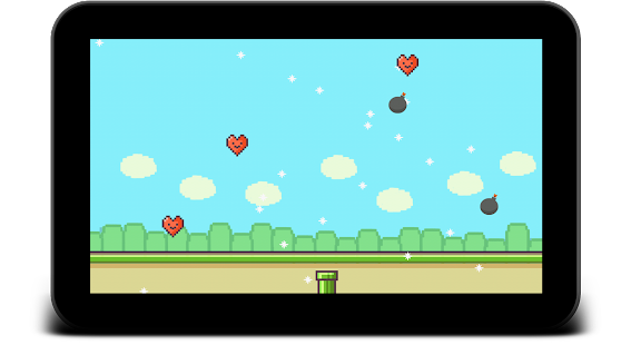 Flappy Falling Valentine's Day - screenshot thumbnail