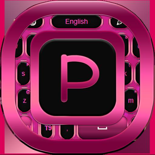 个人化のキーボードのテーマピンク LOGO-記事Game