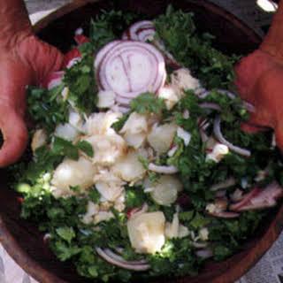 Salt Cod Salad.