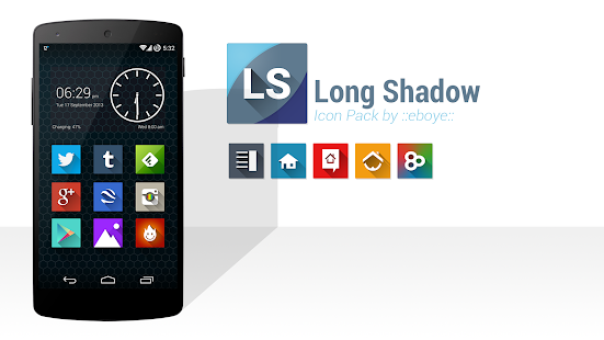 Long Shadow Icon Pack Screenshot 1