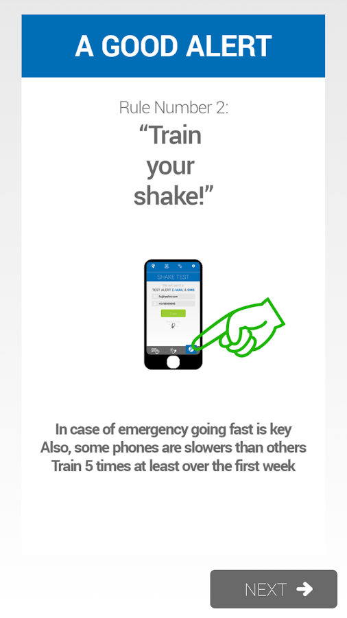 JustShakeIt Emergency Alerter - screenshot
