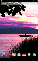 Screenshot of Violet Sunsets Live Wallpaper