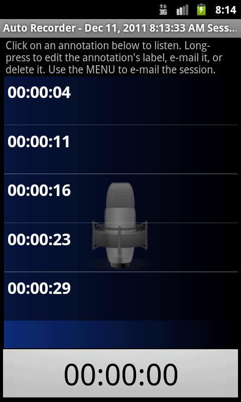 Automatic Recorder - screenshot