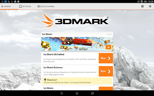3DMark - The Gamer's Benchmark - screenshot thumbnail