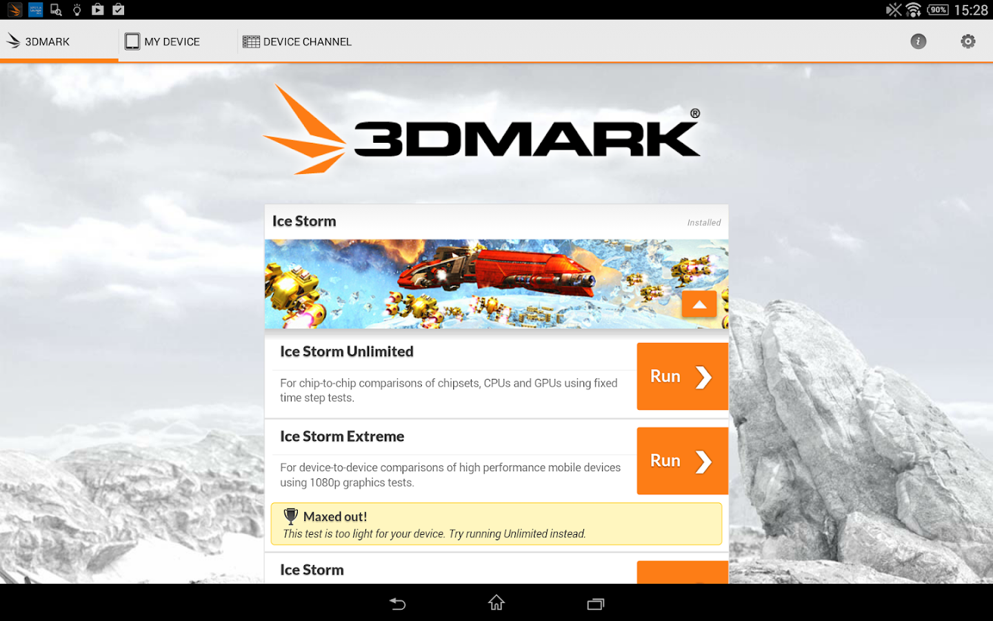 3DMark - The Gamer's Benchmark - screenshot