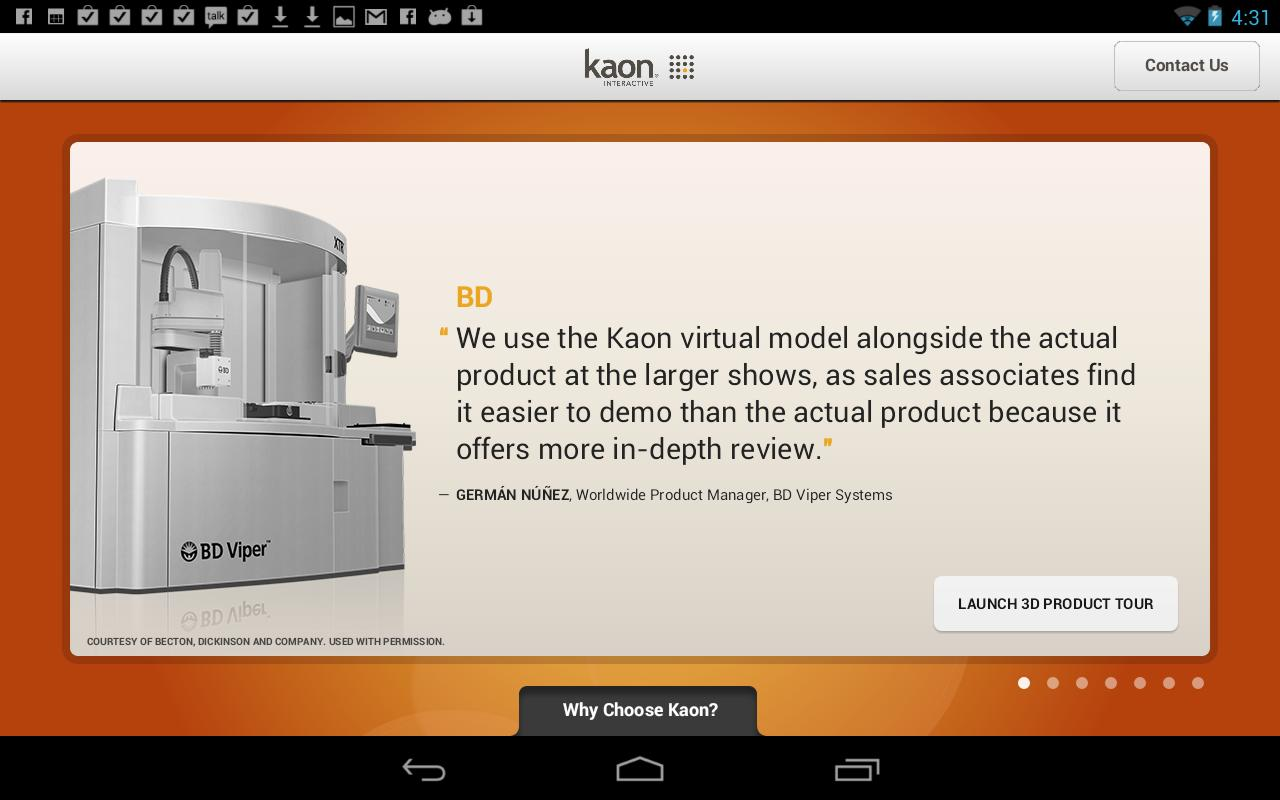 Kaon 3D Product Showcase- screenshot