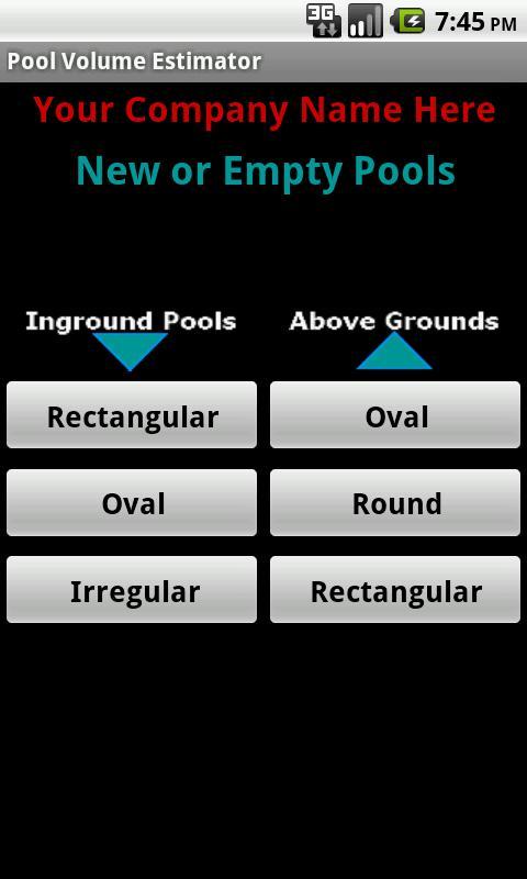 Pool Volume Calculator- screenshot