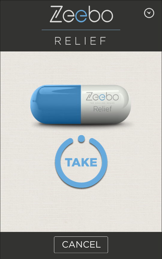 Zeebo RELIEF - Honest Placebo- screenshot