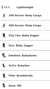 Stroller Selector- screenshot thumbnail