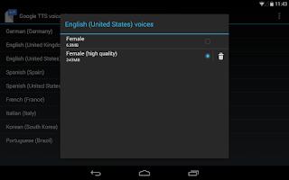 Screenshot of Google Text-to-speech