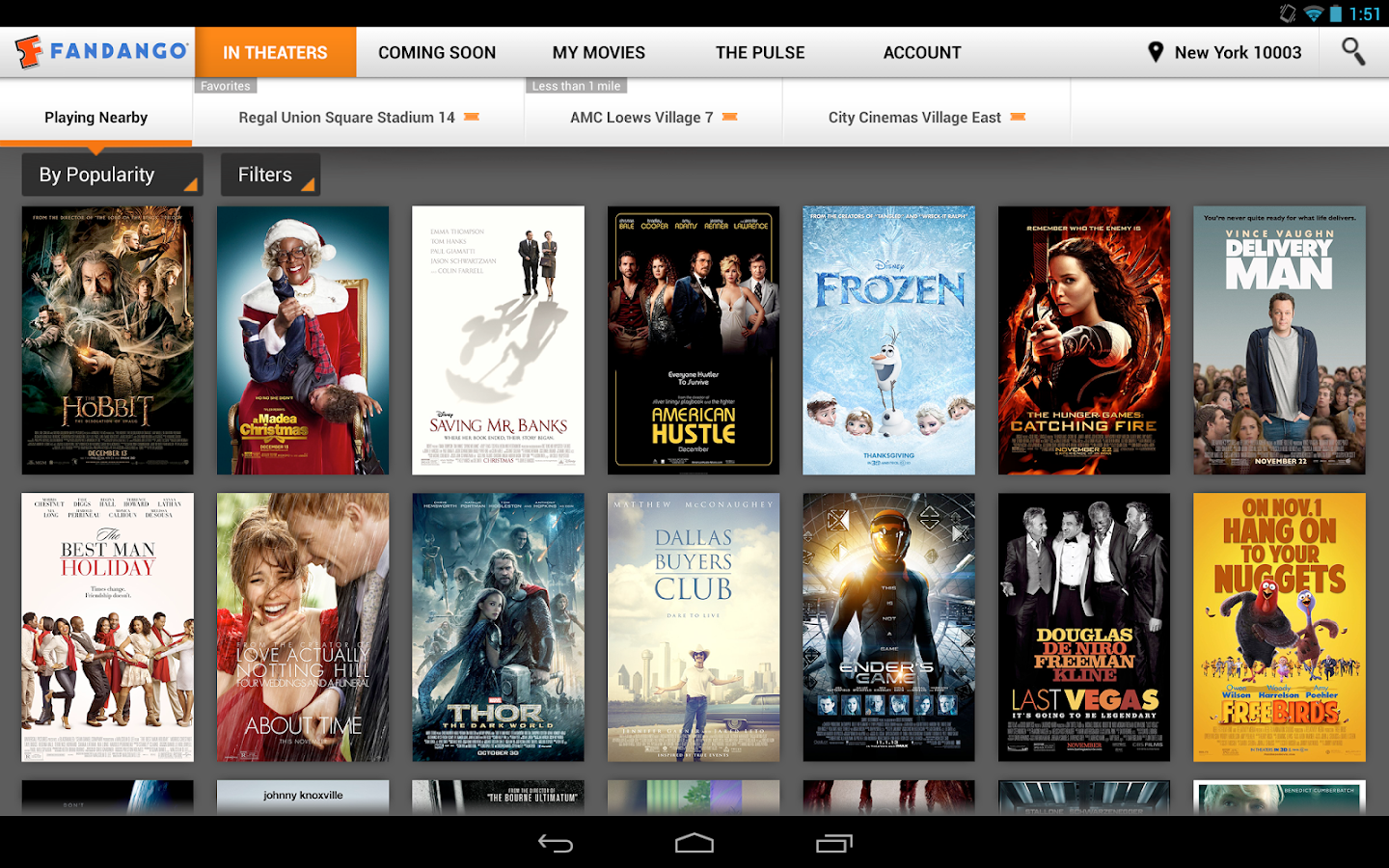 Fandango Movies for Tablets - screenshot