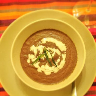 Gourmet Mushroom and Tarragon Soup.