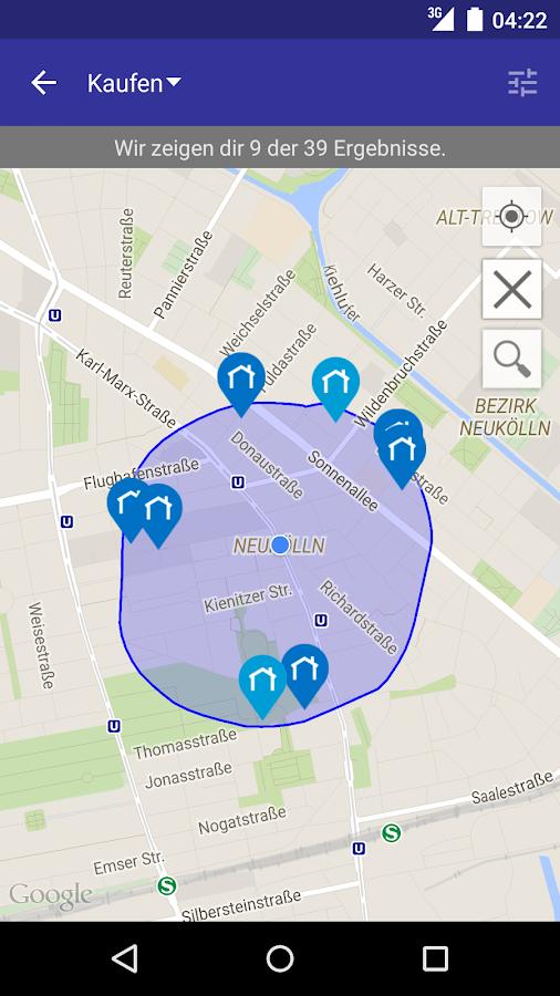 Immobilien kauf miete trovit android apps auf google play for Suche wohnung zur miete
