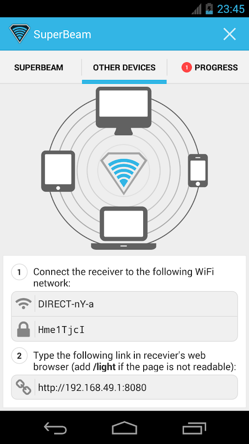 SuperBeam | WiFi Direct Share - screenshot