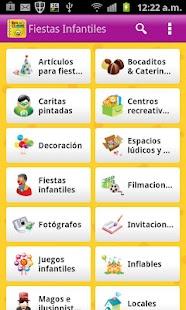 Guia de Fiestas Infantiles- screenshot thumbnail
